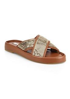 Diane von Furstenberg Sarita Embellished Crisscross Sandals