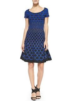 Diane von Furstenberg Scallop-Print Fit & Flare Dress