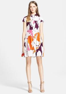 Diane von Furstenberg 'Scarlet' Floral Print Cotton Shirtdress
