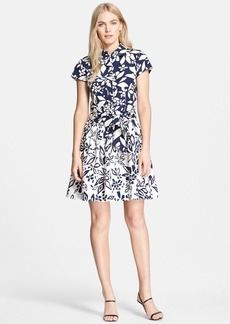 Diane von Furstenberg 'Scarlet' Mixed Print Cotton Shirtdress