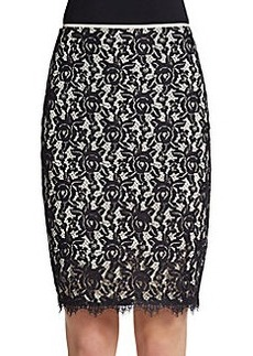 Diane von Furstenberg Scotia Lace Pencil Skirt