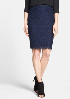 Diane von Furstenberg 'Scotia' Lace Pencil Skirt