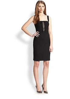 Diane von Furstenberg Scottland Lace-Up Body-Con Dress