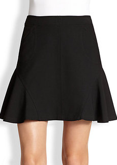 Diane von Furstenberg Seamed A-Line Mini Skirt