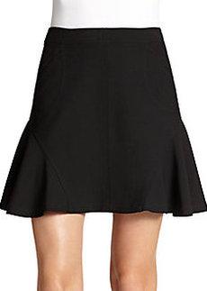 Diane von Furstenberg Seamed Flare-Insert Mini Skirt