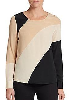Diane von Furstenberg Seraphina Silk-Crepe Top