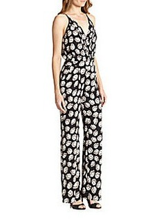 Diane von Furstenberg Shancy Stretch Silk Jumpsuit