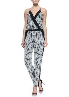 Diane von Furstenberg Shany Panther Lace-Print Jumpsuit