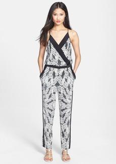 Diane von Furstenberg 'Shany' Print Silk Jumpsuit