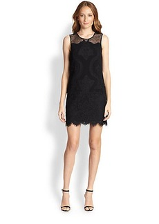 Diane von Furstenberg Sheer-Yoke Lace Dress