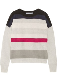 Diane von Furstenberg Shell striped cashmere sweater