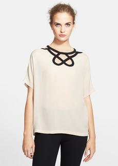 Diane von Furstenberg Short Sleeve Cutout Top