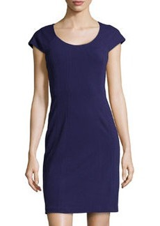 Diane von Furstenberg Short-Sleeve Jersey Dress, Purple Haze