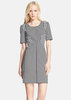 Diane von Furstenberg Short Sleeve Woven Sheath Dress
