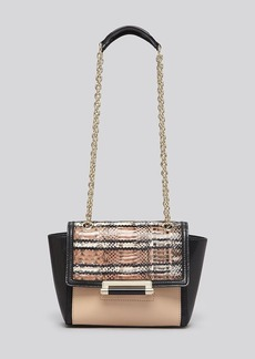 DIANE von FURSTENBERG Shoulder Bag - 440 Mini Stripe Snake/Leather