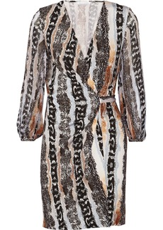 Diane von Furstenberg Sigourney printed silk-jersey mini wrap dress