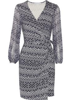 Diane von Furstenberg Sigourney printed stretch-jersey and silk-chiffon wrap dress