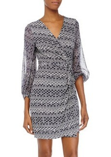Diane von Furstenberg Sigourney Printed Wrap Dress, Moroccan Ditsy Midnight