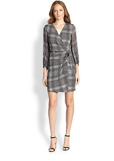 Diane von Furstenberg Sigourney Silk Printed Wrap Dress