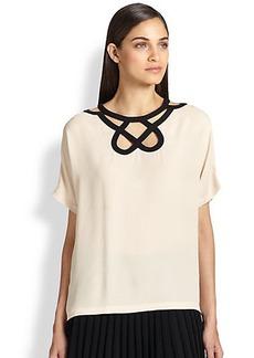 Diane von Furstenberg Silk Cutout-Neckline Tunic