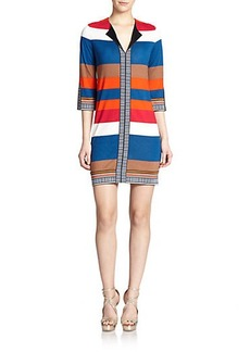 Diane von Furstenberg Silk Jersey Rose Dress