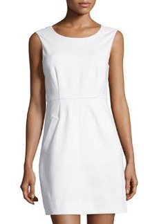 Diane von Furstenberg Sleeveless Capreena Ponte Dress, White