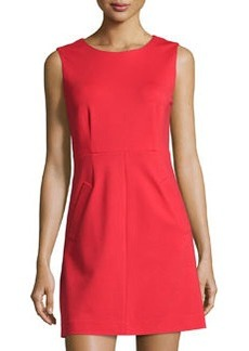 Diane von Furstenberg Sleeveless Capreena Ponte Sheath Dress, Poppy