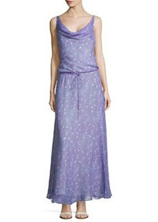 Diane von Furstenberg Sleeveless Draped Scoop Maxi Dress, Grain Stars