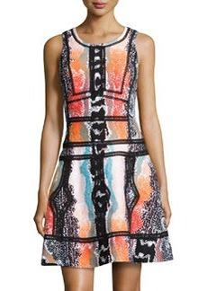 Diane von Furstenberg Sleeveless Fit-&-Flare Printed Dress