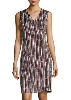 Diane von Furstenberg Sleeveless Printed Wrap Dress, Bamboo