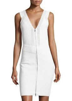 Diane von Furstenberg Sleeveless Zip-Front Knit Dress