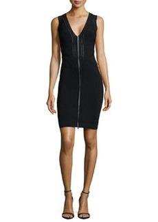 Diane von Furstenberg Sleeveless Zip-Front Knit Dress, Black