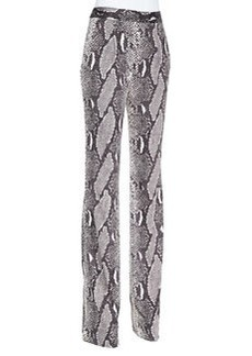 Diane von Furstenberg Snake-Print Silk Jersey Pants