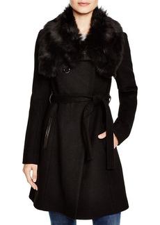 DIANE von FURSTENBERG Sofia Fur Collar Coat