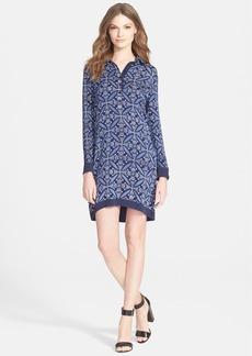 Diane von Furstenberg 'Sorrel' Mixed Media Shirtdress
