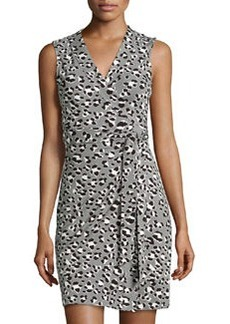 Diane von Furstenberg Spotted Floral Cat Wrap Dress