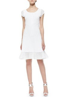 Diane von Furstenberg St. Petersburg Netted-Hem Dress