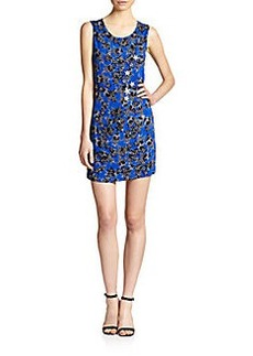 Diane von Furstenberg Star Appliqué Shift Dress