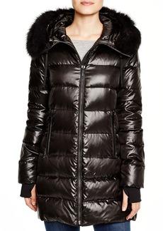 DIANE von FURSTENBERG Stella Fur Trim Hooded Puffer Coat