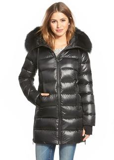 Diane von Furstenberg 'Stella' Hooded Down Walking Coat with Genuine Fox Fur Trim