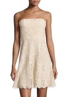 Diane von Furstenberg Strapless A-line Lace Dress