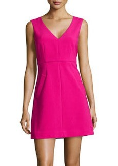 Diane von Furstenberg Stretch Crepe Fit-And-Flare Dress, Rosy Blush
