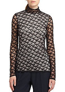 Diane von Furstenberg Surya Lace Turtleneck Top