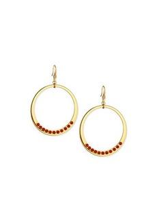 Diane von Furstenberg Susan Coral Circle Drop Earrings