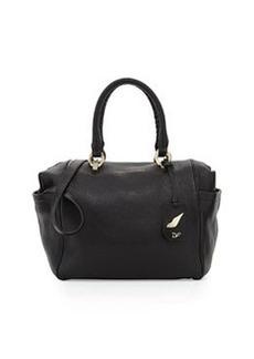 Diane von Furstenberg Sutra Bold Leather Duffle Bag, Black