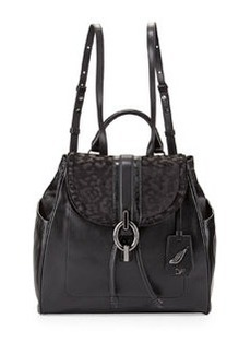 Diane von Furstenberg Sutra Calf-Hair & Leather Backpack, Black