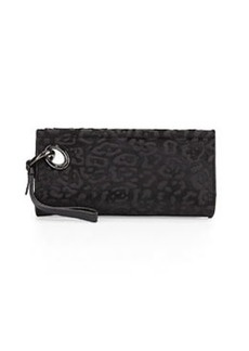 Diane von Furstenberg Sutra Calf-Hair Clutch Bag, Black