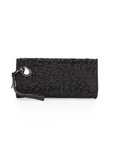 Diane von Furstenberg Sutra Calf-Hair Clutch Bag, Black