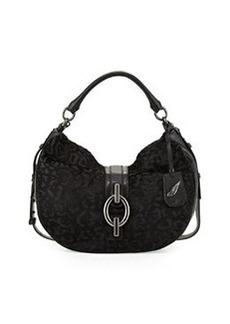 Diane von Furstenberg Sutra Calf-Hair Hobo Bag, Black