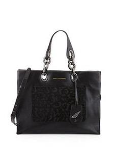 Diane von Furstenberg Sutra Calf-Hair Shopper Tote Bag, Black